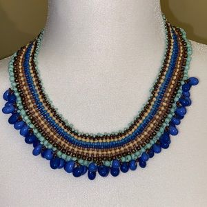 Intricate beaded costume necklace